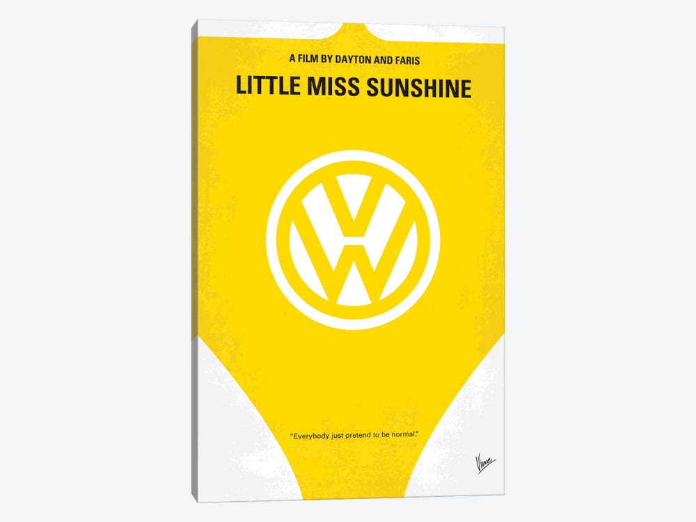 Little Miss Sunshine Movie Poster by Chungkong 1-piece Art Print