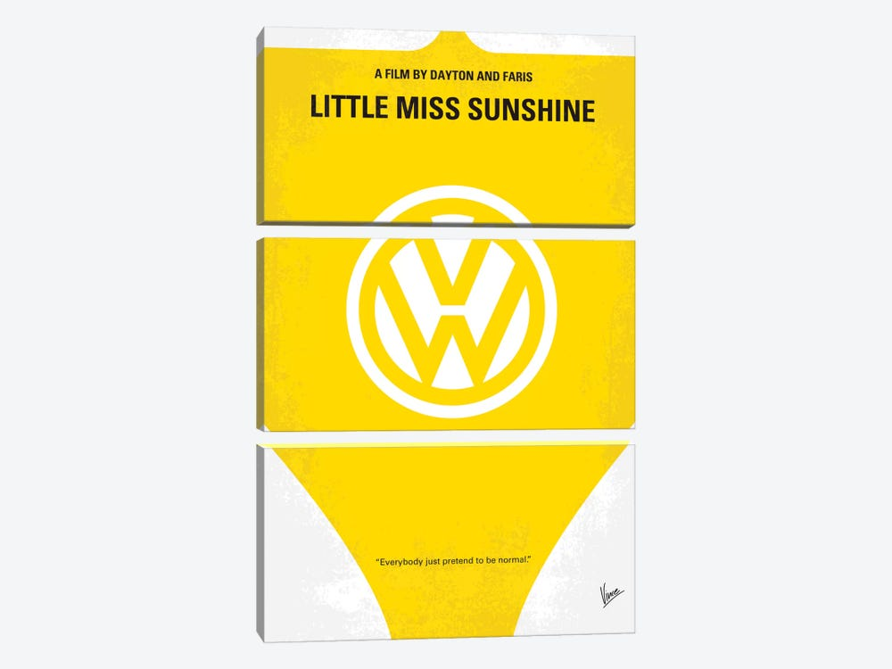 Little Miss Sunshine Movie Poster by Chungkong 3-piece Canvas Art Print