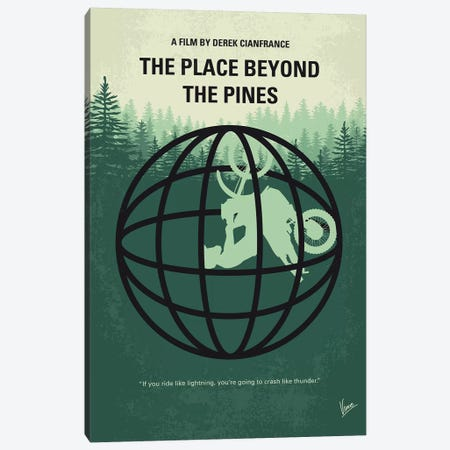 The Place Beyond The Pines Minimal Movie Poster Canvas Print #CKG1192} by Chungkong Canvas Artwork