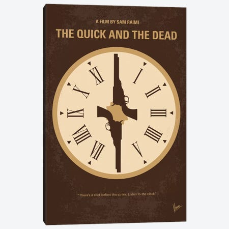 The Quick And The Dead Minimal Movie Poster Canvas Print #CKG1193} by Chungkong Canvas Art