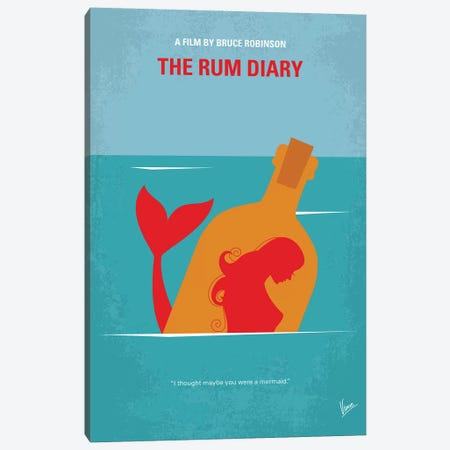 The Rum Diary Minimal Movie Poster Canvas Print #CKG1194} by Chungkong Art Print