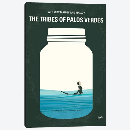 The Tribes Of Palos Verdes Minimal Movie Poster Canvas Print #CKG1196} by Chungkong Art Print