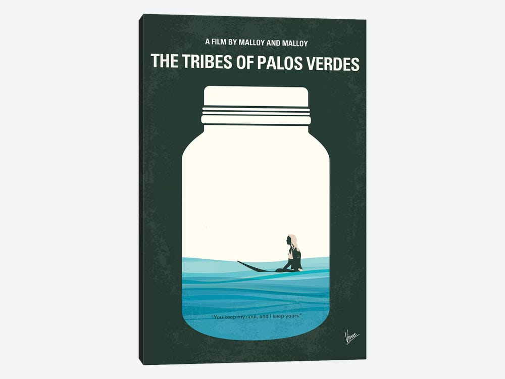 The Tribes Of Palos Verdes Minimal Movie Poster by Chungkong 1-piece Canvas Print