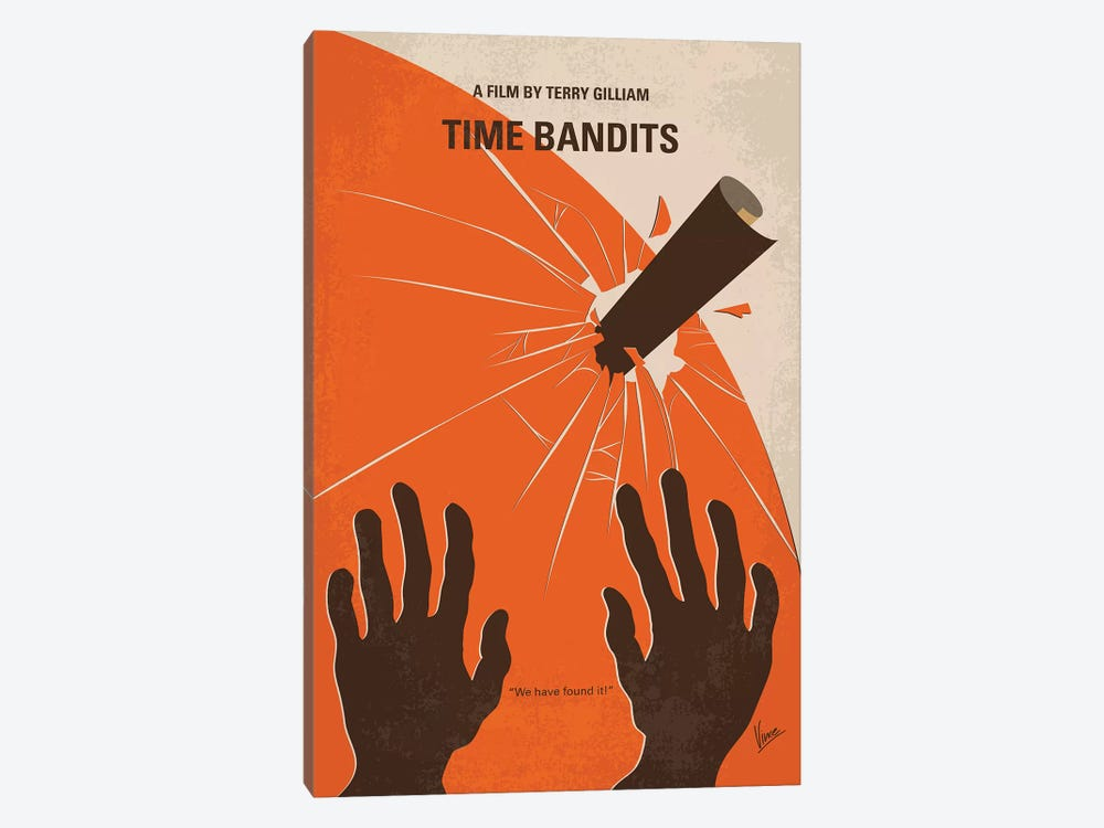 Time Bandits Minimal Movie Poster by Chungkong 1-piece Canvas Art Print