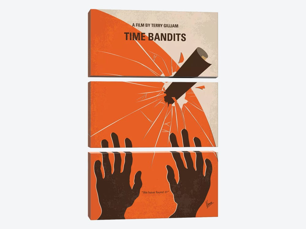 Time Bandits Minimal Movie Poster by Chungkong 3-piece Art Print