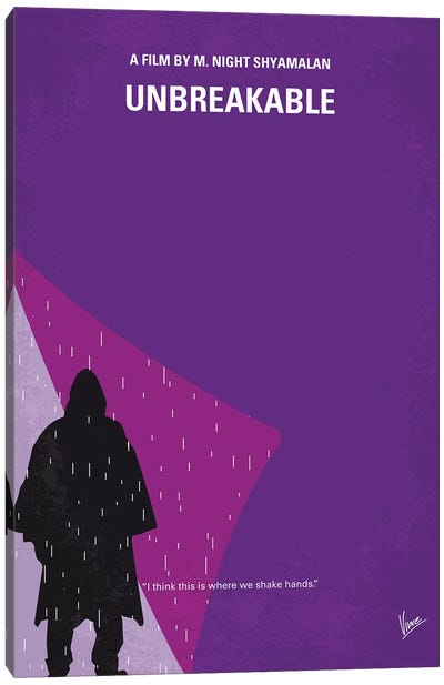 Unbreakable Minimal Movie Poster Canvas Art Print