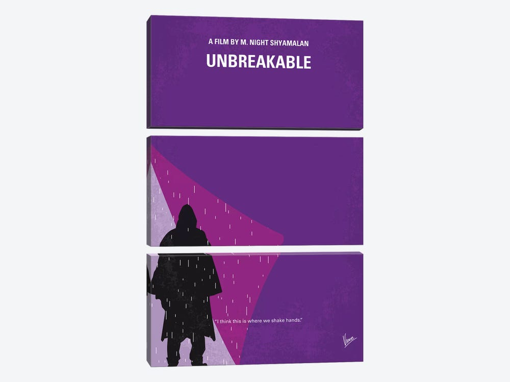Unbreakable Minimal Movie Poster by Chungkong 3-piece Canvas Art