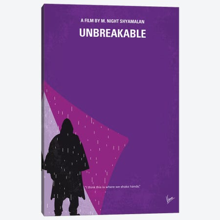 Unbreakable Minimal Movie Poster Canvas Print #CKG1199} by Chungkong Canvas Art