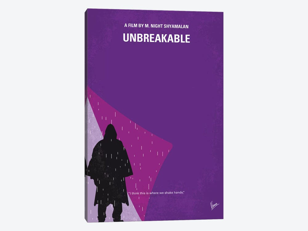 Unbreakable Minimal Movie Poster by Chungkong 1-piece Canvas Art