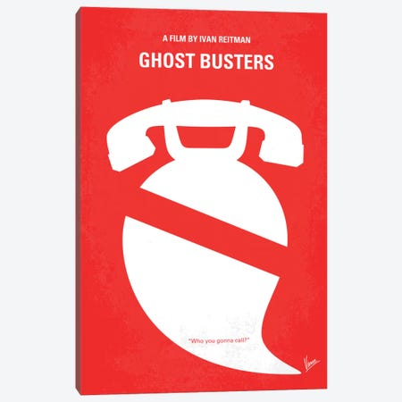 Ghostbusters Minimal Movie Poster Canvas Print #CKG119} by Chungkong Canvas Art Print