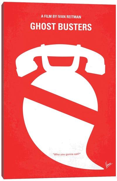 Ghostbusters Minimal Movie Poster Canvas Print #CKG119