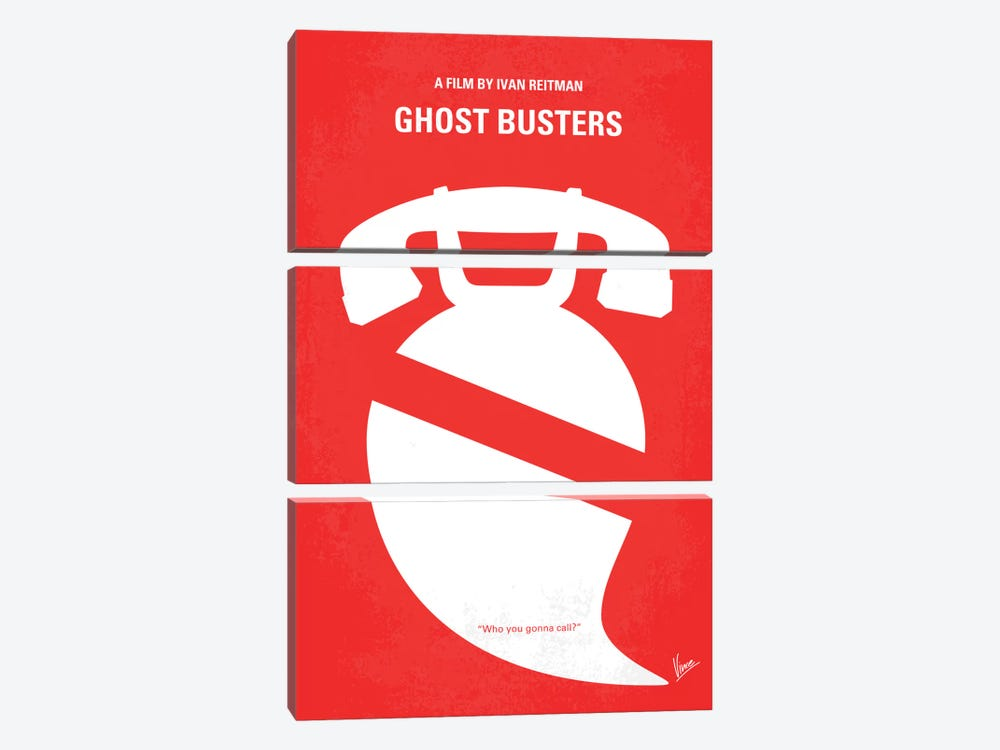 Ghostbusters Minimal Movie Poster by Chungkong 3-piece Canvas Art