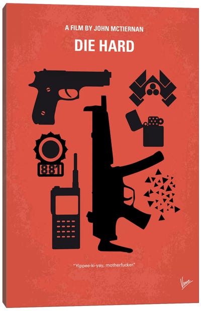 Die Hard Minimal Movie Poster Canvas Art Print
