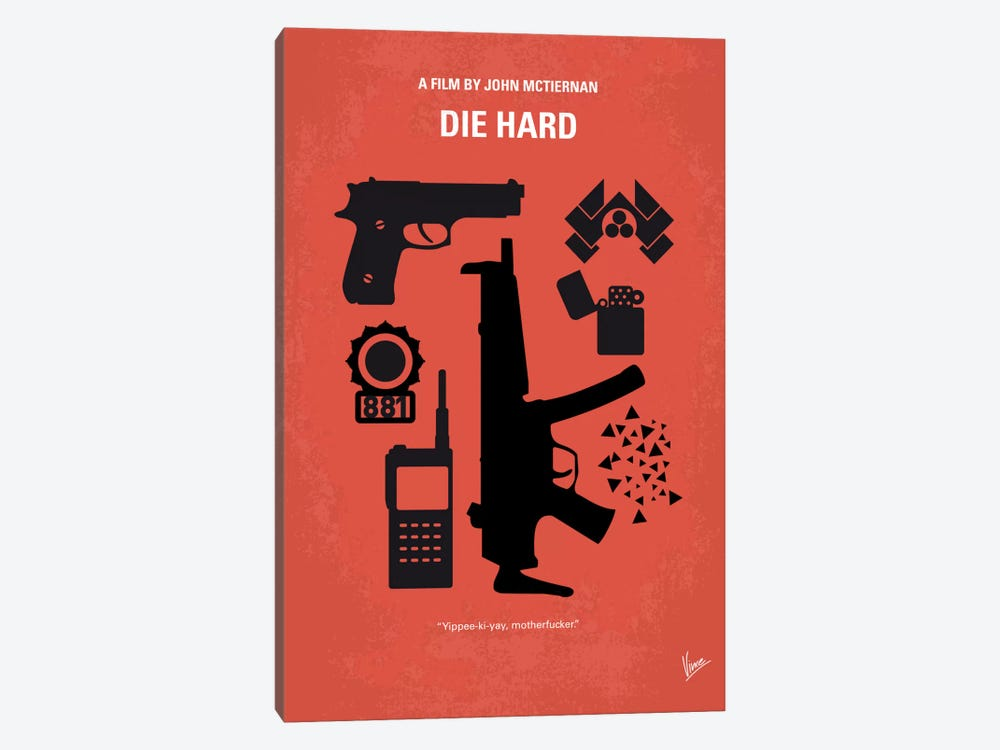 Die Hard Minimal Movie Poster by Chungkong 1-piece Canvas Art Print