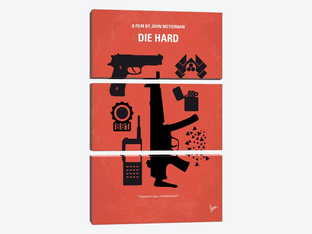 Die Hard Minimal Movie Poster by Chungkong 3-piece Art Print