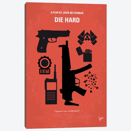 Die Hard Minimal Movie Poster Canvas Print #CKG11} by Chungkong Canvas Artwork