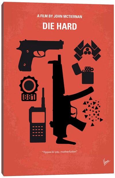 Die Hard Minimal Movie Poster Canvas Art Print