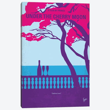 Under The Cherry Moon Minimal Movie Poster Canvas Print #CKG1200} by Chungkong Canvas Artwork