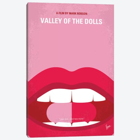 Valley Of The Dolls Minimal Movie Poster Canvas Print #CKG1201} by Chungkong Canvas Wall Art