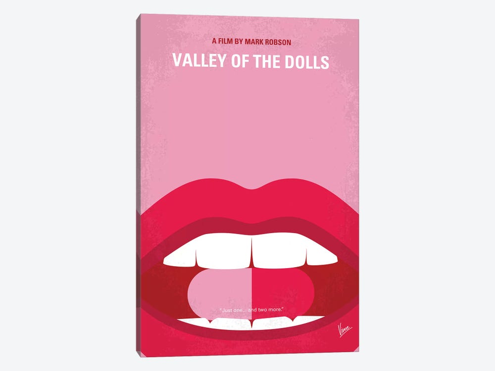 Valley Of The Dolls Minimal Movie Poster by Chungkong 1-piece Canvas Print