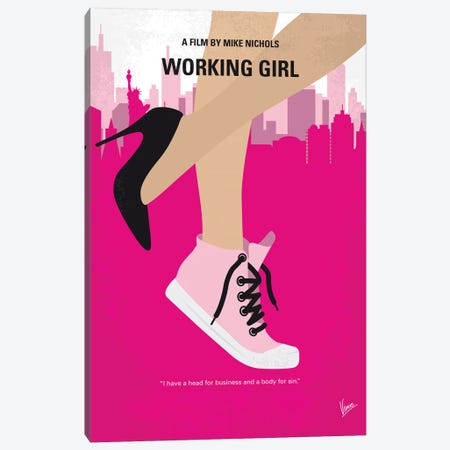 Working Girl Minimal Movie Poster Canvas Print #CKG1202} by Chungkong Canvas Wall Art