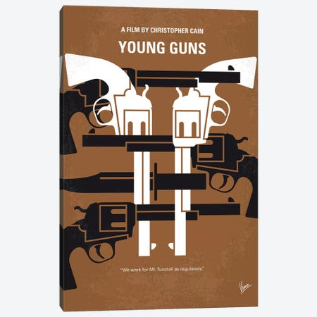 Young Guns Minimal Movie Poster Canvas Print #CKG1203} by Chungkong Canvas Art