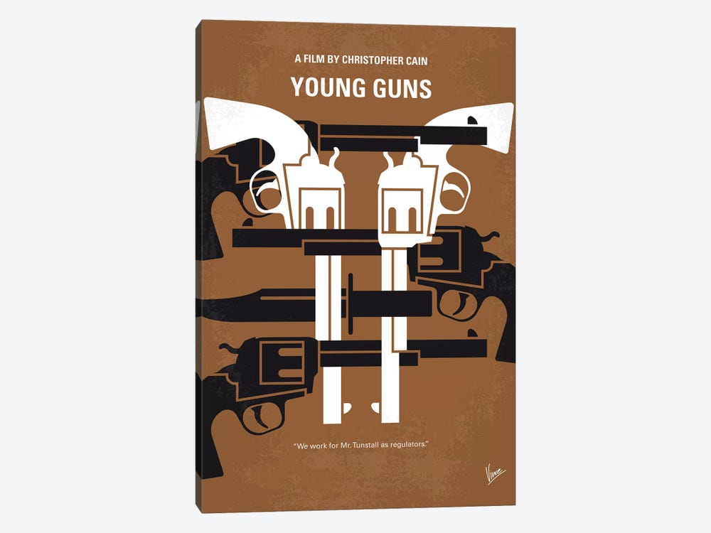 Young Guns Minimal Movie Poster by Chungkong 1-piece Art Print