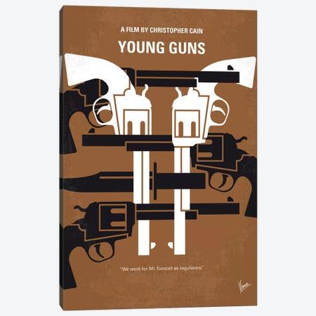 Young Guns Minimal Movie Poster Canvas Print #CKG1203} by Chungkong Canvas Art