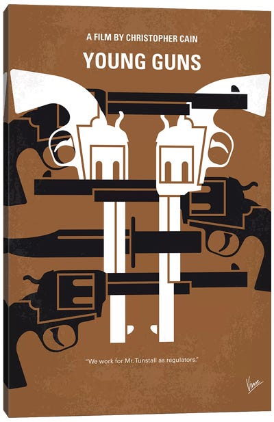 Young Guns Minimal Movie Poster Canvas Art Print