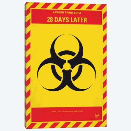 My 28 Days Later Minimal Movie Poster Canvas Print #CKG1204} by Chungkong Canvas Art Print