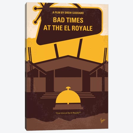 My Bad Times At The El Royale Minimal Movie Poster Canvas Print #CKG1205} by Chungkong Art Print