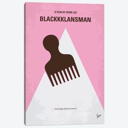 BlacKKKlansman Minimal Movie Poster Canvas Print #CKG1207} by Chungkong Canvas Print
