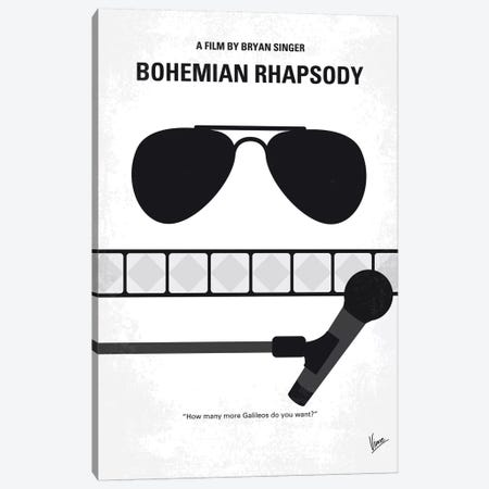 Bohemian Rhapsody Minimal Movie Poster Canvas Print #CKG1208} by Chungkong Canvas Wall Art