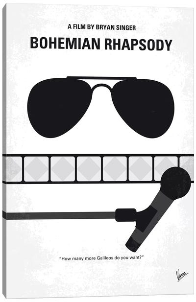 Bohemian Rhapsody Minimal Movie Poster by Chungkong - Minimalist Movie Posters Canvas Art Print