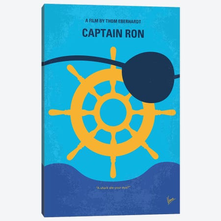My Captain Ron Minimal Movie Poster Canvas Print #CKG1209} by Chungkong Canvas Art