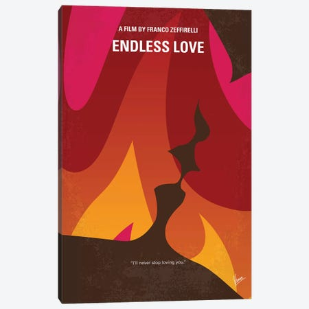 My Endless Love Minimal Movie Poster Canvas Print #CKG1211} by Chungkong Canvas Print