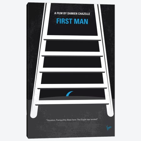 My First Man Minimal Movie Poster Canvas Print #CKG1213} by Chungkong Art Print