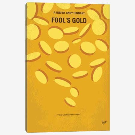 My Fools Gold Minimal Movie Poster Canvas Print #CKG1214} by Chungkong Canvas Wall Art