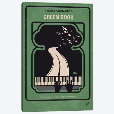 Green Book Minimal Movie Poster Canvas Print #CKG1216} by Chungkong Canvas Artwork