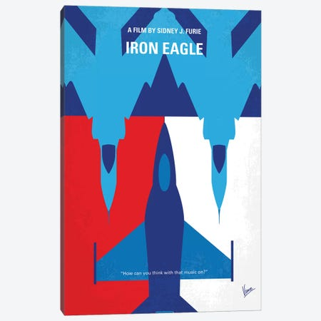 My Iron Eagle Minimal Movie Poster Canvas Print #CKG1218} by Chungkong Canvas Art Print