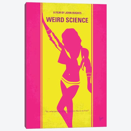 Weird Science Minimal Movie Poster Canvas Print #CKG121} by Chungkong Canvas Art