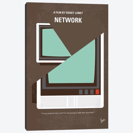 My Network Minimal Movie Poster Canvas Print #CKG1220} by Chungkong Canvas Art