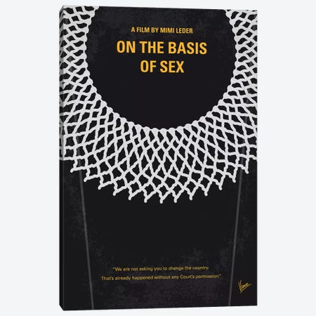My On The Basis Of Sex Minimal Movie Poster Canvas Print #CKG1221} by Chungkong Canvas Wall Art