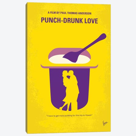 My Punch-Drunk Love Minimal Movie Poster Canvas Print #CKG1222} by Chungkong Canvas Art