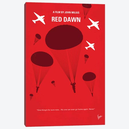 My Red Dawn Minimal Movie Poster Canvas Print #CKG1223} by Chungkong Canvas Art