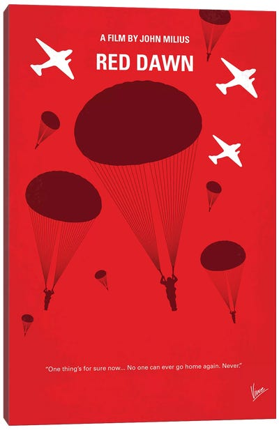 My Red Dawn Minimal Movie Poster Canvas Art Print