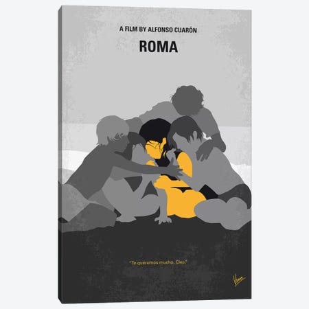Roma Minimal Movie Poster Canvas Print #CKG1224} by Chungkong Art Print