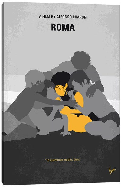 Roma Minimal Movie Poster Canvas Art Print