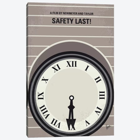 My Safety Last Minimal Movie Poster Canvas Print #CKG1225} by Chungkong Canvas Print