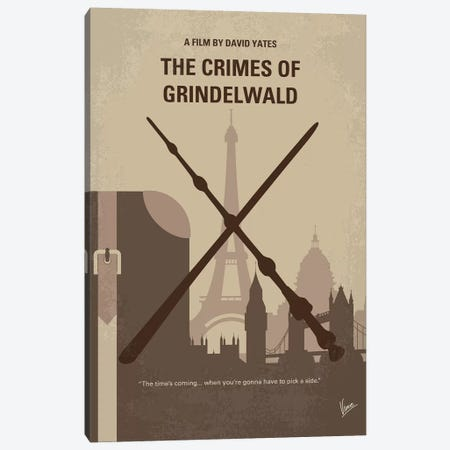 My The Crimes Of Grindelwald Minimal Movie Poster Canvas Print #CKG1227} by Chungkong Canvas Print